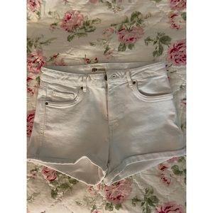 NWOT- Zara White Denim High Waisted Shorts